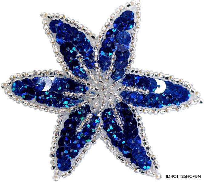 Blomma blå