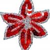 Hårspänne blomma - Röd/silver
