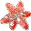 Hårspänne blomma - Orange/Rosa