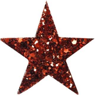 Hårspänne stjärna - Röd