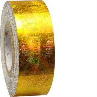 Hologramtejp 11m - Guld
