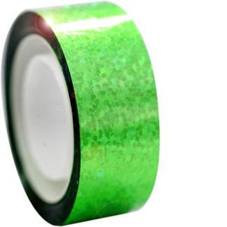 Hologramtejp 11m - Neongrön