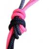 Flerfärgat rep - FIG - Svart/Rosa