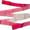 Band 6 meter, flerfärgat - Cerise/Rosa/Vit