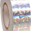 Hologramtejp 11m - Silver Blomma