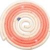 Flerfärgat rep med Swarovskistenar - FIG - Apricos/vit