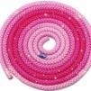 Flerfärgat rep med Swarovskistenar - FIG - Cerice/rosa