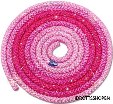 Pastorelli flerfärgat rep m Swarovskistenar rosa-cerice