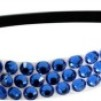 Hårsmycke till knut el tofs - Blå stenar m svart resår S