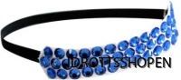 Hårband blå stenar svart