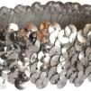 Hårsmycke till knut el tofs - Elastiskt hårband m silverpaljetter