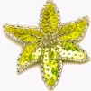 Hårspänne blomma - Gul/silver