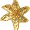 Hårspänne blomma - Guld/guld