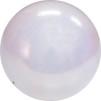 Boll glitter 18cm, Pastorelli - FIG - Vit glitter