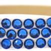 Hårsmycke till knut el tofs - Blå stenar m beige resår S