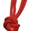 Enfärgat rep m Swarovskistenar - FIG - Röd