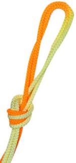 Flerfärgat rep - FIG - Orange/ljusgul