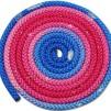 Flerfärgat rep med Swarovskistenar - FIG - Blå/lila/rosa