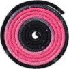 Flerfärgat rep med Swarovskistenar - FIG - Svart/rosa
