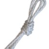 Enfärgat rep m silver/guldtrådar - FIG - Vit m silver