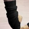 Benvärmare med fot - Svarta junior (33 cm) - Intermezzo