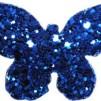 Hårspänne fjäril - Blå