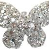 Hårspänne fjäril - Silver