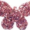 Hårspänne fjäril - Rosa