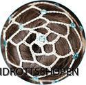 Pastorelli hårnät beige ljusblå stenar