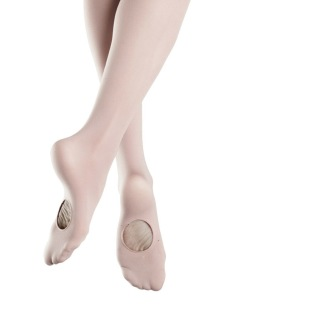 Trikåer balett m halvfot vit