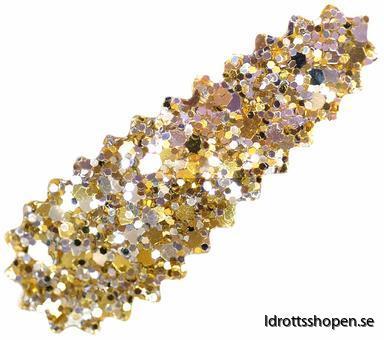 Hårspänne guld glitter