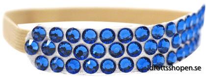 Pastorelli hårband beige  blå stenar