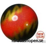 Sasaki boll 18,5 cm Svart röd guld glitter