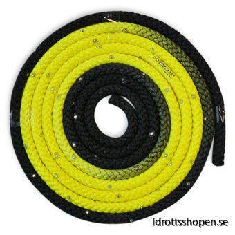Pastorelli flerfärgat rep m Swarovskistenar svart-gul