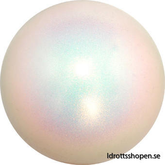 Pastorelli boll Ø16cm vit/glitter