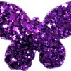 Hårspänne fjäril - Violet
