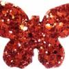 Hårspänne fjäril - Röd