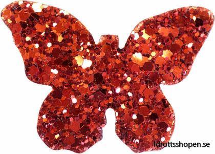 Pastorelli hårsmycke fjäril röd