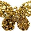 Hårspänne fjäril - Guld
