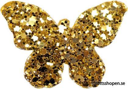 Pastorelli hårsmycke fjäril guld
