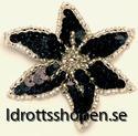 Pastorelli hårsmycke blomma svart