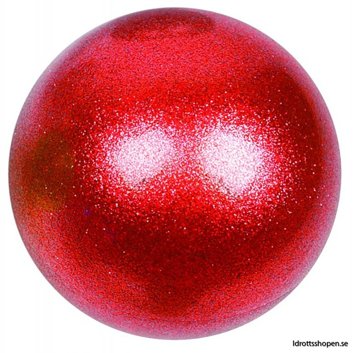 Amaya boll 16 cm glitter röd