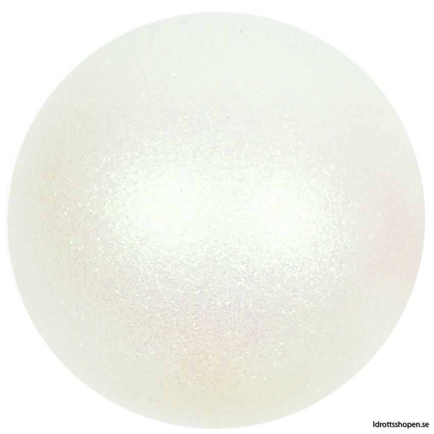 Amaya boll 16 cm vit glitter