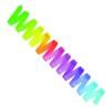 Regnbågsfärgade band 5 m, SASAKI - FIG - Grön/lila/blå