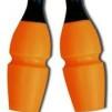 Tvåfärgade plast/gummikäglor, 45,2 cm Pastorelli - FIG - Svart/Orange 45,2 cm