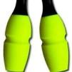Tvåfärgade plast/gummikäglor, 45,2 cm Pastorelli - FIG - Svart/Gul 45,2 cm