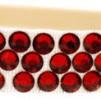 Hårsmycke till knut el tofs - Röda stenar m beige resår S