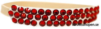 Pastorelli hårband beige röd