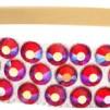 Hårsmycke till knut el tofs - Hyacint stenar m beige resår S