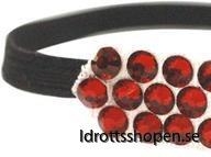 Pastorelli hårband svart röd